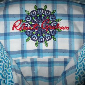 ROBERT GRAHAM SHIRT ~ 3XL ~ PLAID DESIGN ~